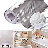 Küchentapete Aluminiumlegierung, selbstklebend, ölfest, wasserfest, 0,4 x 1 m