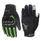 ARTOP Motorradhandschuhe Touch Screen Anti-Rutsch Anti-Kollision Motorrad Handschuhe sehr Guter Schutz für Herren(Grün, M)