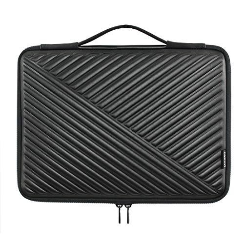 MCHENG Stoßfeste Wasserdicht Laptoptasche Sleeve 13-13,3 Zoll Notebook Laptophülle Schutzhülle mit Griff für 13' MacBook Pro/MacBook Air / 12,9' iPad Pro/Lenovo/Acer/HP/ASUS/Dell, Schwarz
