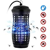Zenoplige Insektenvernichter, Elektrischer UV Insektenvernichter 9W IPX4 Wasserdichte Insektenfalle, Mückenfalle Effektive Bekämpfung von Fliegenden Insekten für Innen und Draußen