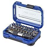 LUX-TOOLS Bit-Set, 32-teilig | Praktischer Bit-Satz in Aufbewahrungs-Box mit Flachschlitz- & Sechskant-Bits, TX- & TT-Bits sowie PH- & PZ-Bits inkl. magnetischem Bithalter & Stecknuss-Adapter