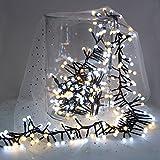 Quntis Lichterkette Lichtervorhang Wasserfeste Fenster Lichterkette Licht Schnur, warm weiße Beleuchtung für Weihnachten, Party, Outdoor, Hochzeit, Dekoration usw.