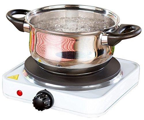 Rosenstein & Söhne Kompakte elektrische Einzel-Kochplatte, 1.500 Watt, 185 mm, stufenlos