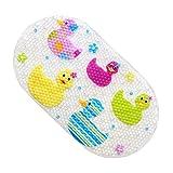 GWELL PVC Cartoon Badewannenmatte Anti-Rutsch mit Saugnäpfen Badematte Wanneneinlage Badteppich Duschmatte Sicherheits für Baby Kinder 69 x 39 cm Ente