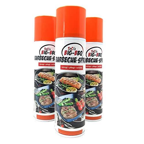 ToCis Big BBQ Barbecue Pflege-Spray für Grill und Gußeisen 200 ml Dose Trennspray Trennfett Grillspray Backtrennmittel (3er Pack)