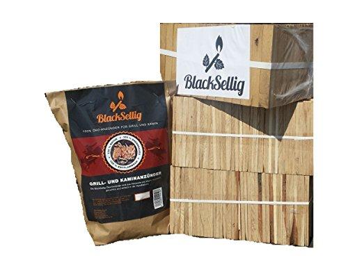 24 Kg Anfeuerholz perfekt trocken und sauber + 50 Stück Öko Anzünder von BlackSellig-