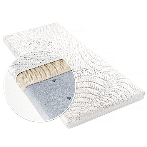 Alvi Matratze für Beistellbett & Wiege - TENCEL & Dry - 90 x 40 cm / Funktionsbezug mit Nässeschutz / vertikale Luftkanäle / 3D-Luftpolster-Auflage / allergikergeeignet / schadstoffgeprüft
