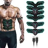 FYLINA Muskelstimulation Elektrostimulation EMS Trainingsgerät Profi USB Muskelstimulator Elektrische Bauchmuskeltrainer Elektrostimuoren für Damen Herren(8lat Pads)