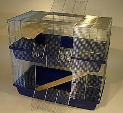 1m6mm DOPPEL Hamsterkäfig Mäusekäfig Rattenkäfig Käfig
