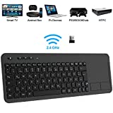 TedGem Wireless Tastatur, Touch Tastatur 2.4G USB Tastatur Wireless Keyboard PC Tastatur USB mit Nano USB Receiver für Laptop/Mac/PC/Android TV (Deutsches Tastaturlayout)