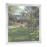MYCARBON Fliegengitter Fenster 2-er Set 150 * 180cm | Zuschneidbar ohne Bohren Klebmontage | Weiß Durchsichtig | Insektenschutz Fliegenvorhang Moskitonetz