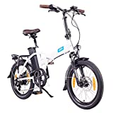 NCM London (+) E-Bike, E-Faltrad, 250W, 36V 15Ah/19Ah • 540Wh/684Wh Akku, 20' Zoll (15Ah Weiß)
