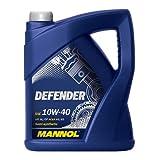 MANNOL DEFENDER Motoröl 10W-40 - 5 Liter - teilsynthetisch (SAE 10W-40; API SL/CF; ACEA A3/B3; MB 229.1; VW 501.00/505.00)