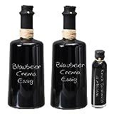 Wajos Blaubeer Crema Balsamico 2 x 250 ml NUR SANFTE 3 % Säure! I Sparset GRATIS dazu Oliv & Co. Kirsch Balsamico di Modena 40ml