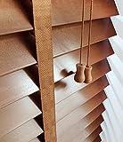 Holzjalousie hellbraun Lamellenbreite 50 mm Breite 160 cm Länge 250 cm KEIN PLASTIK! (160)