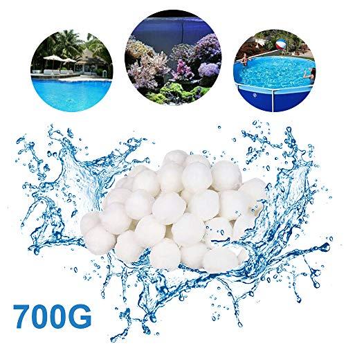 Hbitsae Filter Balls 700g für Sandfilter alternativ zu 25 kg Filtersand Quarzsand Pool Filterkessel für Pool Sandfilter