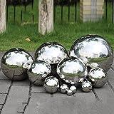 Fastar Hohlkugel aus 304er-Edelstahl, nahtlose Spiegelkugel für Haus, Garten, Ornament, Dekoration usw.