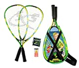 Speedminton Junior Set – Original Speed Badminton/Crossminton Kinder Set inkl. 2 FUN Speeder, Tasche