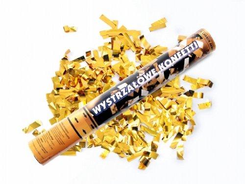 2 x goldener Konfetti Regen 60 cm lang Kanone Shooter Konfettibome Partypopper Hochzeit