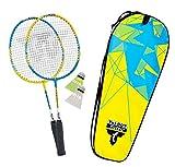 Talbot-Torro Badminton-Set ATTACKER JUNIOR, 2 verkürzte Schläger 53cm, 2 Federbälle, in wertiger Tasche, Kinder Federballset, 449501