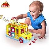 ACTRINIC Baby Spielzeuge 6-12 Monate Pädagogisches Intellektuelles Bus ,Verschiedenen Tiergeräuschen/Musik/omnidirektionalem Bewegung/bestes Geschenk Spielzeuge für 1 2 3 4 Jahre Alte Jungen Mädchen