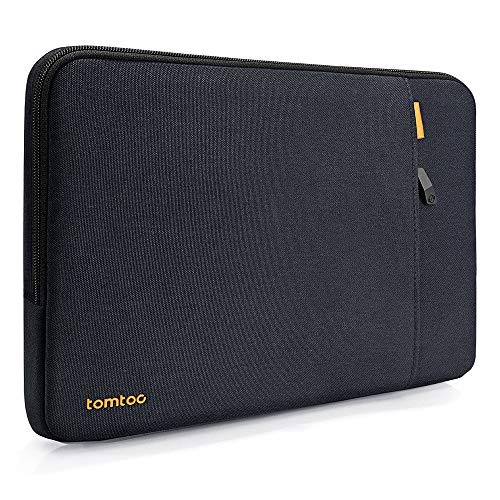 tomtoc Laptop Hülle Tasche kompatibel mit 2018 MacBook Air 13,3' mit Retina, MacBook Pro 13', iPad Pro 12,9' (2018) mit Liquid Retina, Dell XPS 13 Notebook Schutz Sleeve Tragetasche, Blau Schwarz