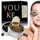 30 Paare Augenpads, Schwarze Perle Augenmaske, Eye Patch, Kollagen Eye Mask, Anti-Aging Pads Entlasten Sie Müdigkeit und straffe Haut - Für Falten, Feine Linien, Augenringe and Tränensäcke Care