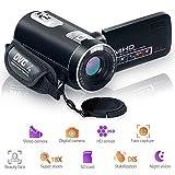 Camcorder Videokamera Night Vision Pause Funktion Digitalkamera Full HD 1080 P 24.0MP Vlogging Kamera mit Fernbedienung