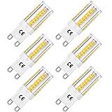 LOHAS G9 LED Lampe, 5W Ersatz für 40W Halogen Lampen, Warmweiß 3000K, 400lm, 360° Abstrahlwinkel, CRI80, Nicht Dimmable, LED Birne, LED Leuchtmittel, 220-240V AC, 6er Pack