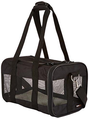 AmazonBasics Transporttasche für Haustiere, weiche Seitenteile, Schwarz, Gr. S