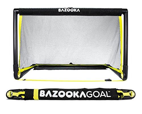 BazookaGoal Original-Fußballtor, Outdoor / Indoor-Set mit massivem Rahmen - Pop-up Aufklapptor mit 1,20 x 0,75 m