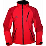 COX SWAIN TITANIUM 3-Lagen Damen Softshell Jacke FOREST - 10.000mm Wassersäule 2.000mm atmungsaktiv, Colour: Red, Size: L