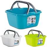 Stefanplast-Italien 13-L Waschschüssel Viereck für Camping, Einkaufen: Campingschüssel Spülschüssel Spüle Plastikschüssel Schüssel Eimer
