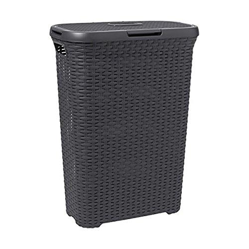 Curver 00709-308-00 Wäschebox Style, 40 L, anthrazit