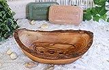 D.O.M. Seifenschale Rustikal aus Olivenholz in 3 Größen (10-11 cm)