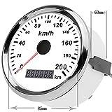 GOGOLO Universal 3.3' GPS Digital 0-200 KM/H Tachometer Kilometerzähler Geräte Instruktion Ersatz Wasserdichte Geschwindigkeit Meilenzahl Tracker Gauge für 12V/24V Fahrzeug SUV Boot