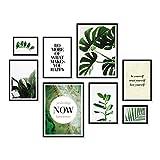 ARTFAVES Poster Set - Elegante BOTANIK | 8 Wandbilder Premium Mix | Ästhetische Motive & Sprüche | ohne Rahmen
