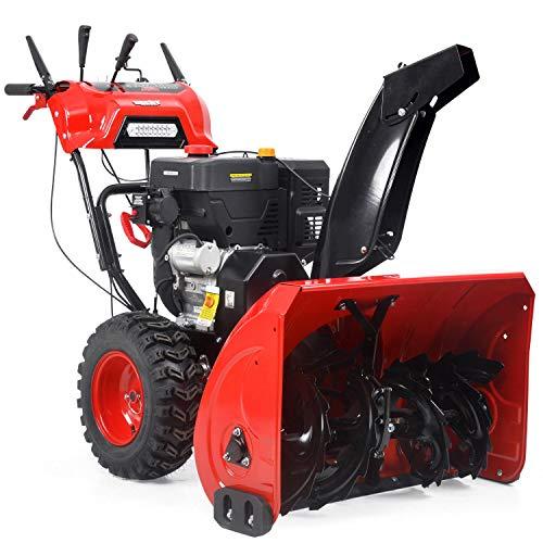 Hecht 9334 SQ Benzin-Schneefräse (9,5 kW/ 13 PS, 87cm Arbeitsbreite, 8 Gänge, Griffheizung)