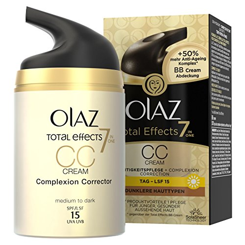 Olaz Total Effects 7-in-1 CC Cream Feuchtigkeitspflege Dunklere Hauttypen, 50 ml
