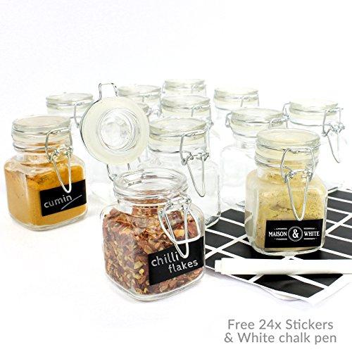 xbite 12x Mini Glas Clip Top Aufbewahrung Einkochen Gewürzgläser/Marmeladengläser (8x 5cm)