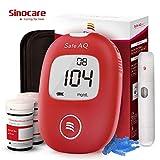 Blutzuckermessgerät Set Codefree - Safe AQ Smart - mit 50 Teststreifen 50 Lanzette Stechhilfe - mit deutscher Bedienungsanleitung für Diabetes mg/dL