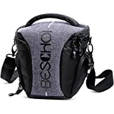 Beschoi Fototasche SLR Kameratasche, Kamera Schultertasche mit Regenschutzhülle, moderne DSLR Umhängetasche für Spiegelreflexkameras und Zubehör