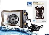 Navitech schwarze wasserdichte Unterwassergehäuse Kasten / Beutel-trockener Beutel für dasSony Cyber Shot HX400 / HX400V / Sony Cyber Shot DSC H400