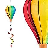 Windspiel - Micro Balloon TWISTER - wetterbeständig - Ballon: Ø17cm x 28cm, Korb: 4cm x 3.5cm, Spirale: Ø10cm x 35cm - inklusive Aufhängung