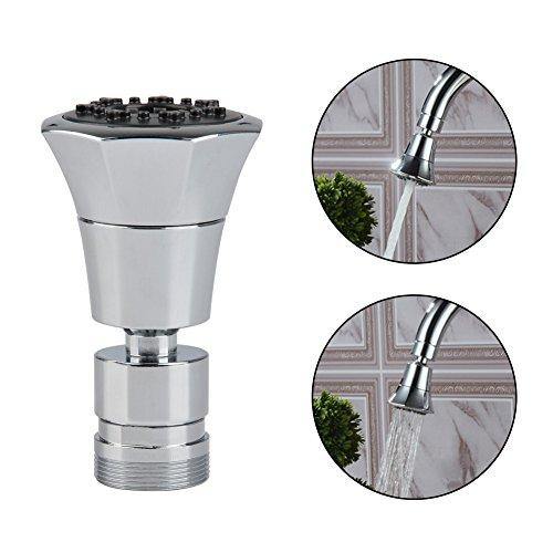 QLOUNI 2-Funktionshandbrause 2-flow Wasserhahn Luftsprudler Mit Strahlregler - Wasserhahn-Aufsatz Schwenkbrause mit 360°Schwenkkopf Brausekopf Perlator Wassersparstrahler