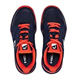 HEAD Unisex-Kinder Sprint 2.5 Junior Tennisschuhe Blau (Dark Blue/Neon Red Dbny), 36 EU