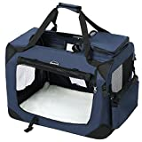 SONGMICS Hundebox Transportbox faltbar Oxford Gewebe ca. 50 x 35 x 35 cm PDC50Z