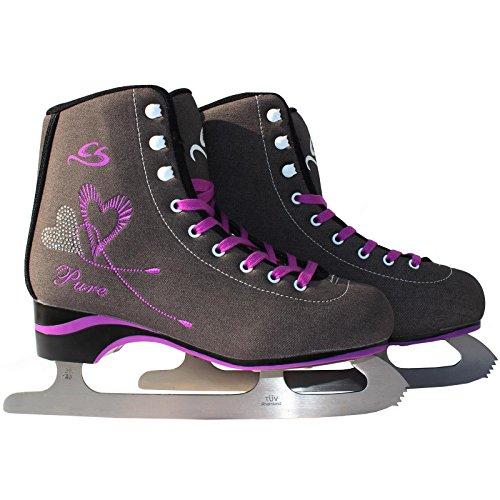 Cox Swain Figure Damen + Kinder Eiskunstlauf Schlittschuh -Lexa- alle Größen, Dunkelgrau, 42