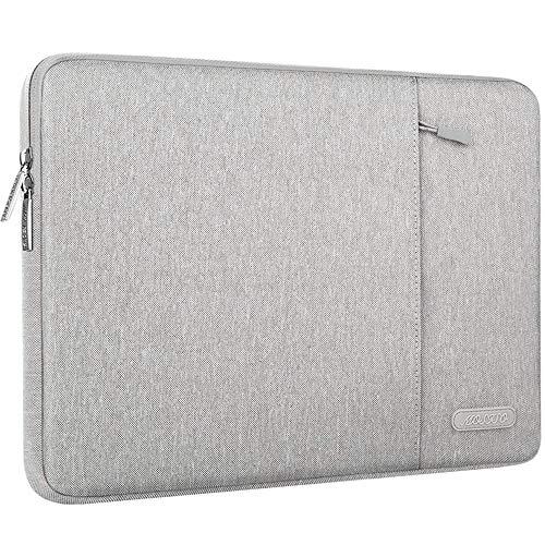 MOSISO Hülle Kompatibel mit 9,7-11 Zoll iPad Pro, iPad 7 10,2 2019, iPad Air 3 10,5, iPad Pro 10,5, Surface Go 2018, iPad 1/2/3/4/5/6 Wasserabweisende Polyester Vertikale Laptoptasche, Grau