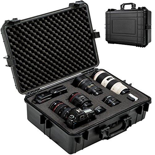 TecTake 402412 Kamerakoffer Schutzhülle wasserdicht (LxBxH): 56 x 42 x 21 cm